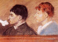 Criminal Physiognomies, 1881, Edgar Degas Medium: pastel