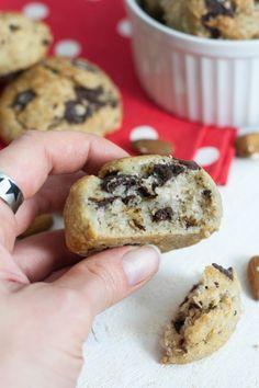 biscuits moelleux banane chocolat VEGAN - vegan chocolate banana cookies