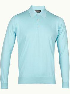 John Smedley Finchley Long Sleeve Polo Shirt - Capri Blue - Available to buy at http://www.afarleycountryattire.co.uk/product-tag/john-smedley-finchley-long-sleeve-polo-shirt/ #johnsmedley #mensfashion #poloshirt #afarleycountryattire