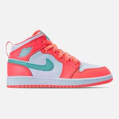 7f42a0b00fea Girls  Little Kids  Air Jordan 1 Mid Casual Shoes. Finish Line. Right view of  Girls  Preschool ...