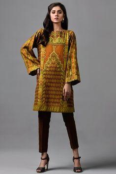 Kayseria 1 piece Custom Stitched Shirt- Brown - C 2822 Salwar Suits, Salwar Kameez, Kurti, Indian Tops, Pakistani Dresses Online, Pakistani Designers, Winter Collection, 1 Piece, Designer Dresses
