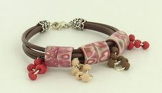 Souffle Leather Bracelet Tutorial with Polymer Clay Beads by Sculpey