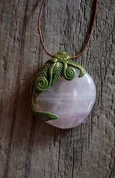Rose Quartz Pendant Necklace by TRaewyn on Etsy, $65.00