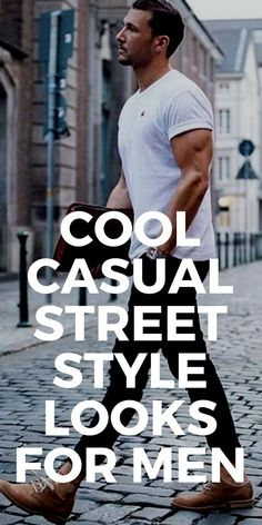 Cool casual street style looks for men #mensfashion #streetstyle