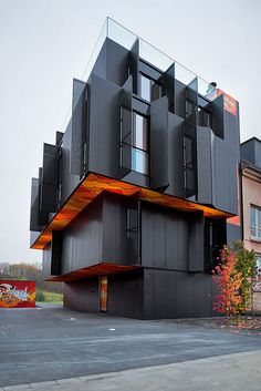 """Post-Graffiti"" Art Definining a Modern Apartment Building in Luxembourg:"