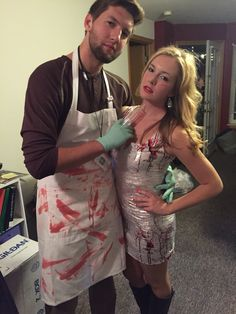 Couples costume: dexter and victim! So cute