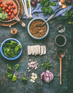 Vegetarian food cooking by VICUSCHKA on @creativemarket