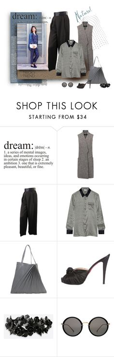 """Satin Dreams"" by michelletheaflack ❤ liked on Polyvore featuring Chanel, Eres, Sabrina Zeng, Christian Louboutin, Valentino, Linda Farrow, TrickyTrend and polyvorecontest"