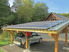 Wind & Sun Solar CarPort for charging electric vehicles