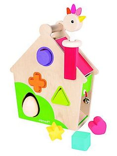 Janod Hen Activity House Learning Toys - Color