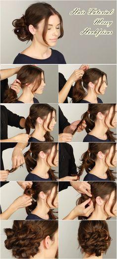 Messy Hochsteckfrisuren Anleitung zum Weihnachten und Silvester Partys mit Haar Extensions