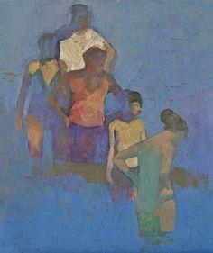 Interesting arrangement of multiple figures by Raymarart Painting Competition Finalist Daniel Schwartz