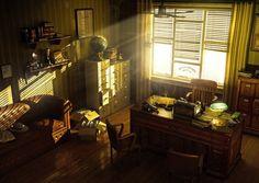 noir detective office - Google Search
