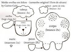 """Personagens de """"O Pequeno Príncipe"""" feitos de feltro com moldes - Dicas pra Mamãe"""