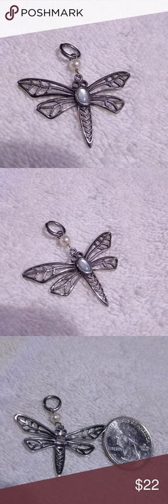 Silver Dragonfly Pendant Sterling pendant marked .925. Jewelry Necklaces