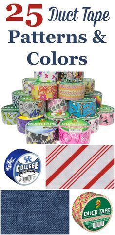 Duct tape is a very handy thing to keep around, because it has so many uses around your home but it doesn't have to be boring looking to work. I've gathered up 25 of my favorite patterns and styles, including holiday, metallic, a rainbow of colors, patterns, and who can forget, college logos! #ad