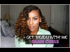 GRWM | Glam Curls - Part I - YouTube.... Flexi rod tutorial for straightened hair!