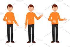 Man presentation gesture hands by Ponomariova on @creativemarket