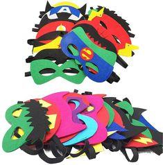 Camelize Superheld Masken,Superheld Party Masken,28 Stück Kinder Cosplay Masken für Geburtstagsfeier,Halloween, Cosplay von 3-Plus:- Werbung Superhero Cosplay, Superhero Party, Mask Party, Masquerade, Bowser, Halloween Decorations, Halloween Cosplay, Toys, Children