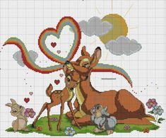 Bambi Disney, Walt Disney, Cross Stitch Animals, Kids Rugs, Sewing, Hobby, Mary, Baby Things, Cross Stitch Embroidery