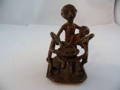 Bronze Aschanti Afrika Gruppe Museal Sammlerstück Adelsbesitz