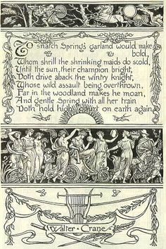 Walter Crane. March 20 is the first day of Spring for 2014.