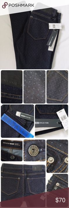 BRAND NEW BIG STAR MINI DOT SIZE 26 -BRAND NEW WITH TAG -COLOR: DARK BLUE WITH MINI DOT -SIZE: 26 MID RISE FIT            ⭐RATED SELLER  👍FAST SHIPPER NEXT DAY SHIPPING  ❌NO TRADE ❌NO PAYPAL ✅BUNDLE OFFER Big Star Jeans Skinny
