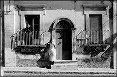 Dutch model Marpessa by © Ferdinando Scianna for Dolce & Gabbana, Ragusa Ibla, Sicily, 1987