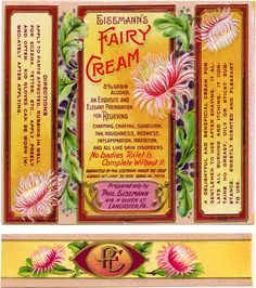 Free vintage clip art Phil Eisemann's Fairy Cream Label