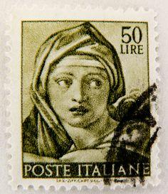 beautiful old italian stamp Italy 50 lire Poste Italiane postzegel Briefmarke Italien postes timbre Italiane francobollo Italia selo sellos postage 50 Lire Lira by stampolina, via Flickr