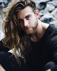 awesome 55 Charming Shoulder Length Hairstyles for Men Check more at http://machohairstyles.com/shoulder-length-hairstyles/