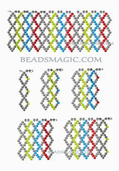 Resultado de imagen para free seed bead patterns and instructions Beaded Necklace Patterns, Beaded Jewelry Designs, Seed Bead Patterns, Beading Patterns Free, Bead Jewellery, Seed Bead Jewelry, Free Pattern, Seed Beads, Bead Earrings