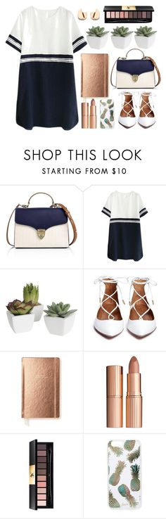 """Untitled #72"" by lidiaaa18 ❤ liked on Polyvore featuring Aspinal of London, Pier 1 Imports, Kate Spade, Charlotte Tilbury, Yves Saint Laurent, Sonix, Beauty and twoways"