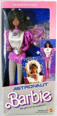 Astronaut Barbie Black Doll #1207 Mint in Box 1985 Mattel, Inc. 3+ #MattelInc #Dolls