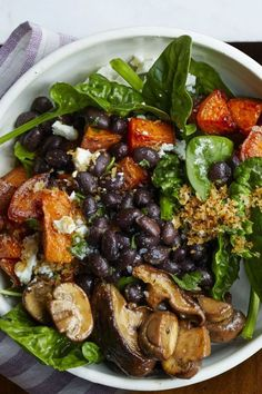 Heart Healthy Recipes - Roasted Vegetable Bowl. #recipes #healthyrecipes #healthyliving #veganrecipes