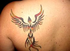 Tribal Phoenix Tattoos for Men