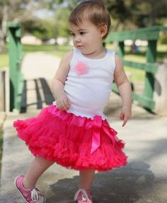 RuffleButts Candy PettiSkirt | She is sure to be tutu cute in this full and frilly PettiSkirt. Made of a super soft and fluffy chiffon, this skirt will definitely make her feel like the princess she is! (From: RuffleButts.com - $39.00)