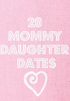20 Mommy-Daughter Date Ideas - I love this as I am always trying to think of fun things to do for that one on one time. Thinking there might be an invitation for a Mommy-daughter mani-pedi in the stocking this year:-) Little Doll, My Little Girl, My Baby Girl, Mommy Daughter Dates, To My Daughter, My Children, Making Ideas, Just In Case, Cool Kids