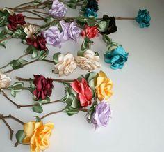fabric flowers, silk flowers, textile flowers, silk roses
