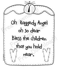 Raggedy Angel Saying Free Pattern