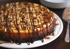 Turtle Cheesecake Recipe - a super easy and incredibly delicious Turtle Cheesecake...