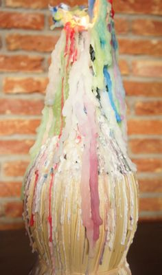 These candles were popular during the late 60's and 70's. The amazing candle dripped all these different colors.