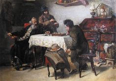 EPSTEIN Jehudo (1870 – 1945) Playing chess. 1904