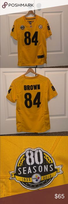 80317209081 Pittsburgh Steelers Antonio Brown 80 Season Jersey This jersey is brand  new. Beautifully stitched.