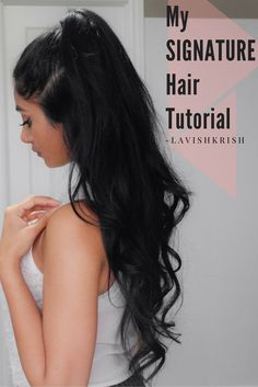 Half Up Half Down hair tutorial | Pinterest: @lavishkrish
