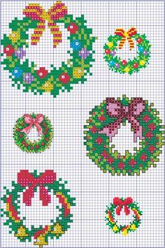 Скоро Новый год. Хочу представить вам подборку, в которой много схем и схемочек, которые помогут быстро и красиво оформить новогодний подарок: открытку, подарочный пакетик, мешочек, салфеточку, ёлочную игрушку и многое другое. Кроме схем предлагаются фотографии, демонстрирующие возможности применения мини-вышивок. Поехали... Cross Stitch Christmas Cards, Xmas Cross Stitch, Cross Stitch Needles, Cross Stitch Cards, Christmas Cross, Diy Christmas Ornaments, Cross Stitching, Cross Stitch Embroidery, Wedding Cross Stitch Patterns