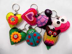 variety of felt keychain