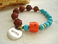 Yoga Bracelet  Yoga Jewellery  Rudraksha by HandcraftedYoga, $24.00