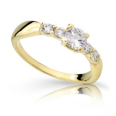 gold engagement ring with a round brilliant diamond (fashion design: Danfil Diamonds) Gold Engagement Rings, Her Smile, Brilliant Diamond, Yellow, Fashion Design, Jewelry, Diamond, Jewlery, Jewerly