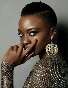The Beautiful And Elegant Danai Gurira...Achieve A Similar Style For Your Hair Here: www.naturalhairmag.com/wash-n-go-coils-twa-5-mins/ Photo Credit: Patric Shawn #naturalhairmag